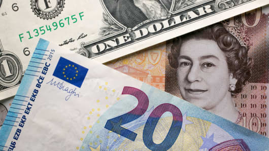 the euro-dollar is in retreat, but there's an opportunity