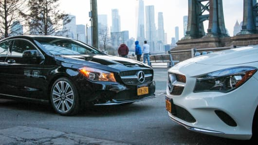 Car2go added Mercedes-Benz CLAs to its New York City fleet on Tuesday.