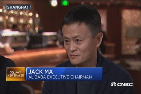 Alibaba founder Jack Ma: China isn't stealing jobs, it's creating jobs