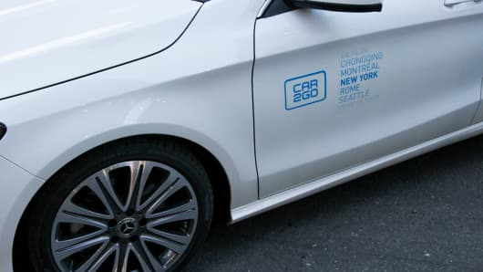 The Daimler-owned car2go is in 11 North American cities