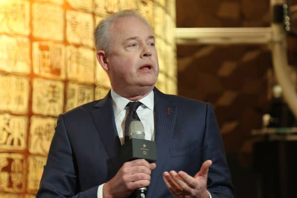 Kevin Johnson, CEO of Starbucks at the opening of the Starbucks Reserve Roastery in Shanghai, China on Dec. 5th, 2017.