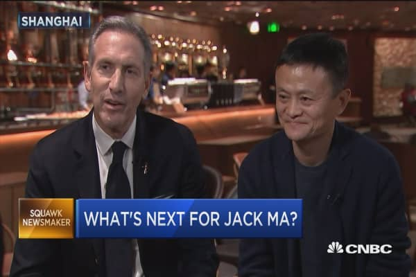 Howard Schultz and Jack Ma on how Starbucks helped coffee catch on in China