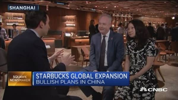 Starbucks China CEO weighs in on the coffee chain's bullish plans in China