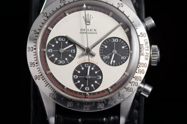The details of the Paul Newman Daytona.