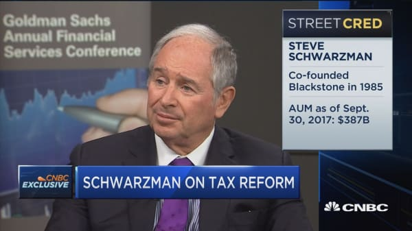 Blackstone CEO: Tax bill is a 'game changer'