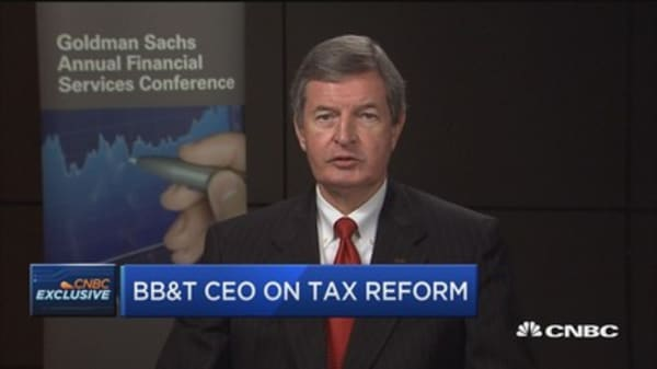 BB&T CEO: Tax bill isn't perfect for everybody but it's mostly good for overall economy