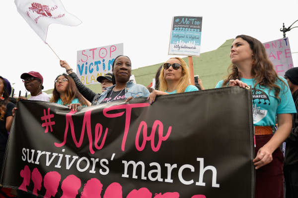 Take Back The Workplace March And #MeToo Survivors March & Rally on November 12, 2017 in Hollywood, California.