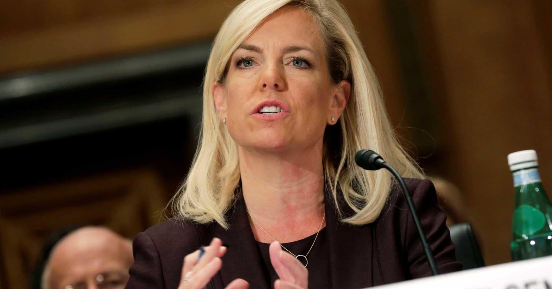 DHS secretary Nielsen says she doesn't recall Trump vulgarity