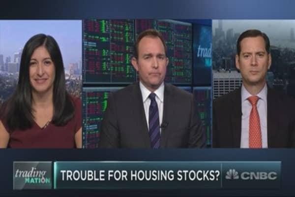 Cracks in the homebuilder trade?