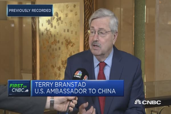 Trump 'very pleased' with Chinese reception, US diplomat says