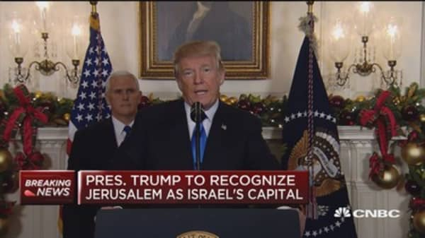 President Trump recognizes Jerusalem as Israel's capital