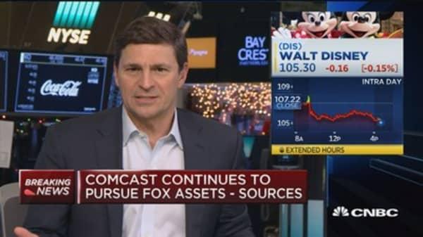 Comcast continues to pursue Fox assets: Sources