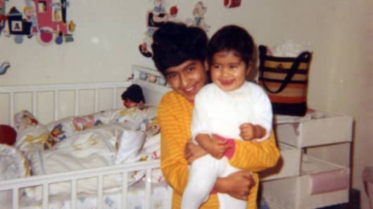 Anil Sethi with his younger sister Tania
