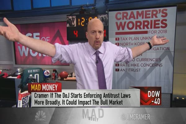 Cramer's top 10 worries for 2018