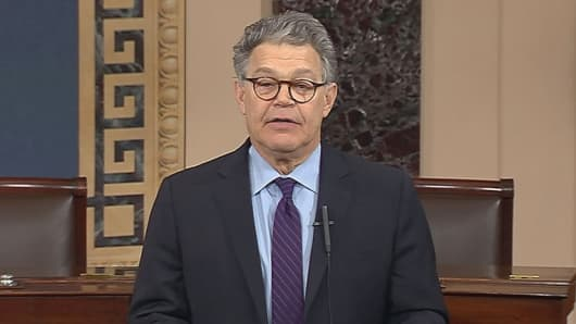 Sen. Al Franken D-Minn. announces his resignation on the Senate floor amid sexual misconduct allegations on Dec. 7th, 2017.