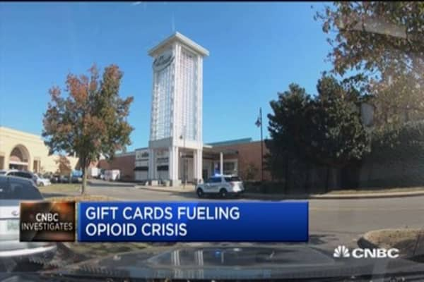 Gift cards fueling the opioid crisis