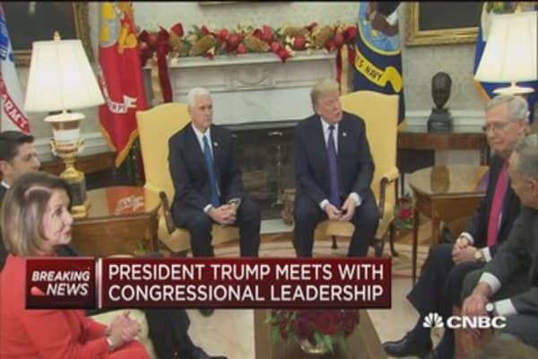 President meets with Congressional leadership, 'happy talk' ensues
