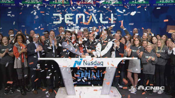 Denali Therapeutics celebrates initial public offering at Nasdaq MarketSite