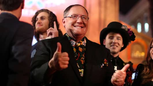 """Executive Producer John Lasseter attends Disney-Pixar's U.S. premiere of """"Coco"""" in the Hollywood section of Los Angeles, November 8, 2017."""
