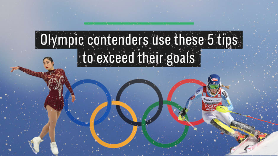 Olympic contenders share 5 tips on how to exceed your goals