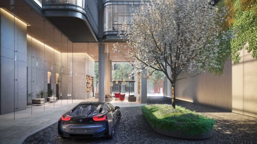 Luxury Nyc Condo Offers Buyers Bmw Car Sharing Or 550k Parking Space