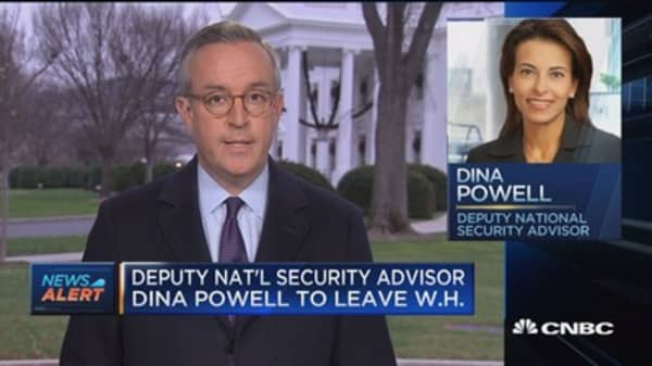 Deputy NSA Dina Powell had planned to leave after a year