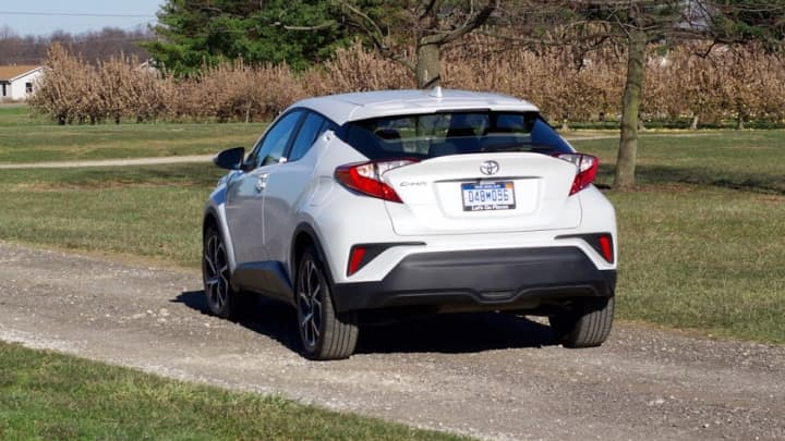 The back of the Toyota C-HR
