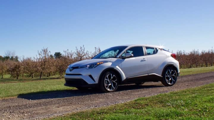 The side of the Toyota C-HR