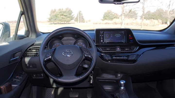 The driver's seat in the Toyota C-HR