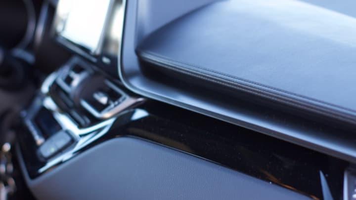 Sharp edges along the dashboard