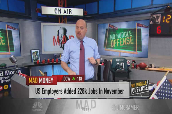 Cramer cheers the bond market's unusual reaction to Friday's jobs report