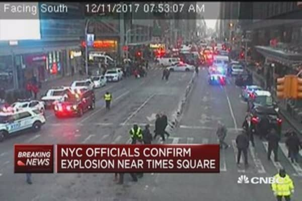 New York City officials confirm explosion near Times Square