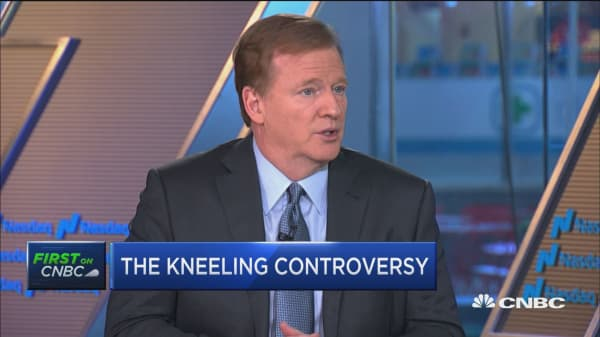 NFL Commissioner Goodell addresses the anthem controversy and stadium attendance
