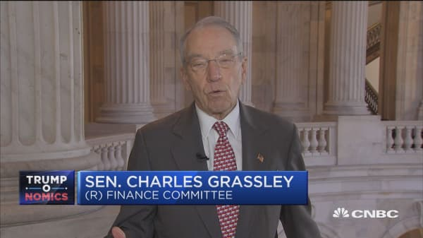 Sen. Grassley: These are two big sticking points on tax overhaul plan