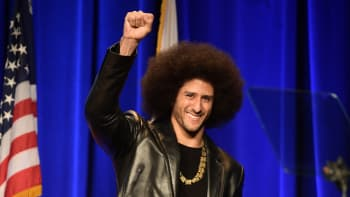 Honoree Colin Kaepernick speaks onstage at ACLU SoCal Hosts Annual Bill of Rights Dinner at the Beverly Wilshire Four Seasons Hotel on December 3, 2017 in Beverly Hills, California.