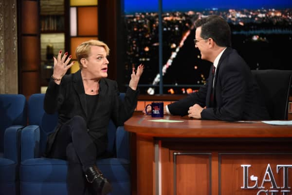The Late Show with Stephen Colbert and guest Eddie Izzard