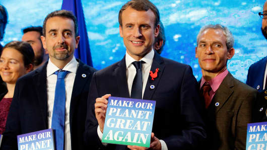 We're losing battle against global warming, says Macron