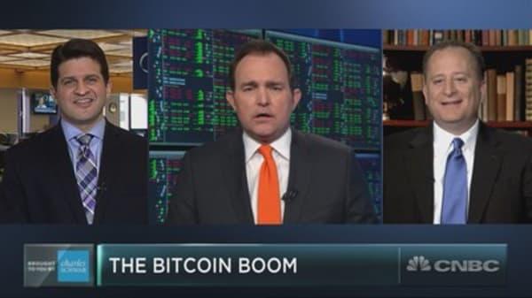Should investors beware a stock surging on bitcoin mania?