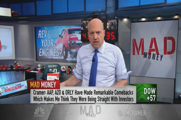 Cramer: Auto parts stocks like O'Reilly wrongly sold off and are buys