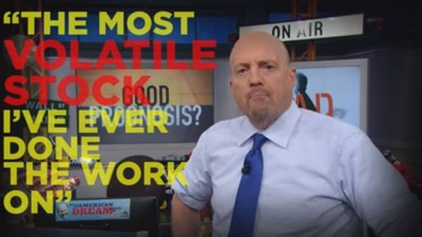Cramer Remix: Here's the most volatile stock I've ever covered - and it's worth speculating on
