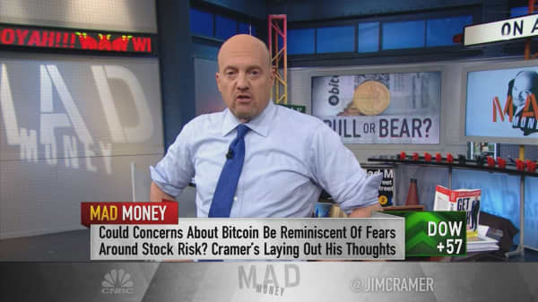 Cramer says wait to buy bitcoin if you don't know the risk