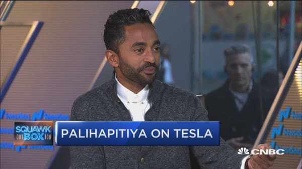 Social Capital's Chamath Palihapitiya: Tesla convertible bonds best way to bet on Elon Musk
