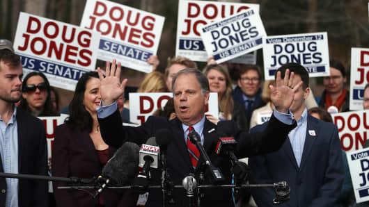 Democratic senatorial candidate Doug Jones.