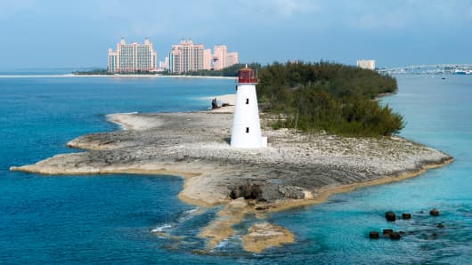 Paradise Island Lighthouse, Bahamas.