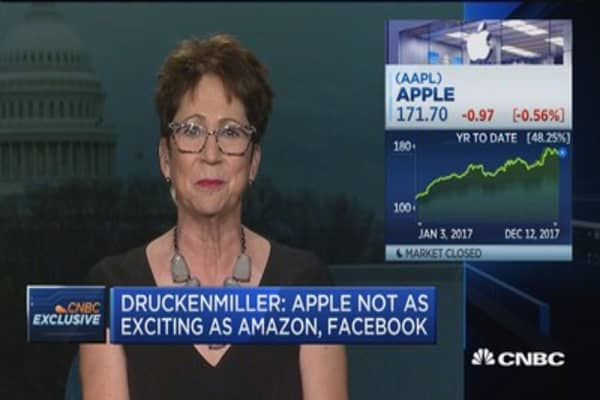 Druckenmiller: Apple not as exciting as Amazon, Facebook