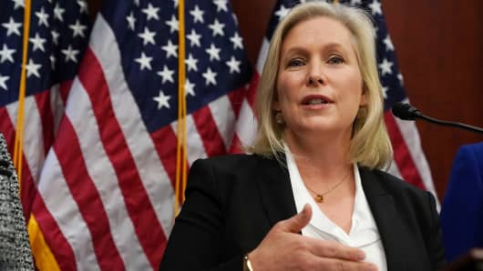Sen. Kirsten Gillibrand (D-NY) speaks during a news conference December 6, 2017 on Capitol Hill in Washington, DC.