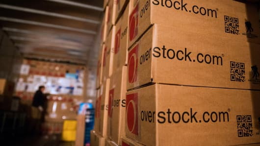 Boxes Sit Stacked Inside A United Parcel Service Inc. (UPS) Truck In The