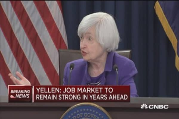 Yellen: Market has gone up a great deal this year