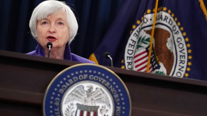 Federal Reserve Chair Janet Yellen speaks during a news conference December 13, 2017 in Washington, DC. Yellen announced that the Federal Reserve is raising the interest rates by a quarter point to 1.5%.