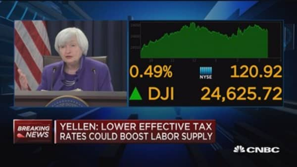 Yellen: Transitory factors are holding inflation down